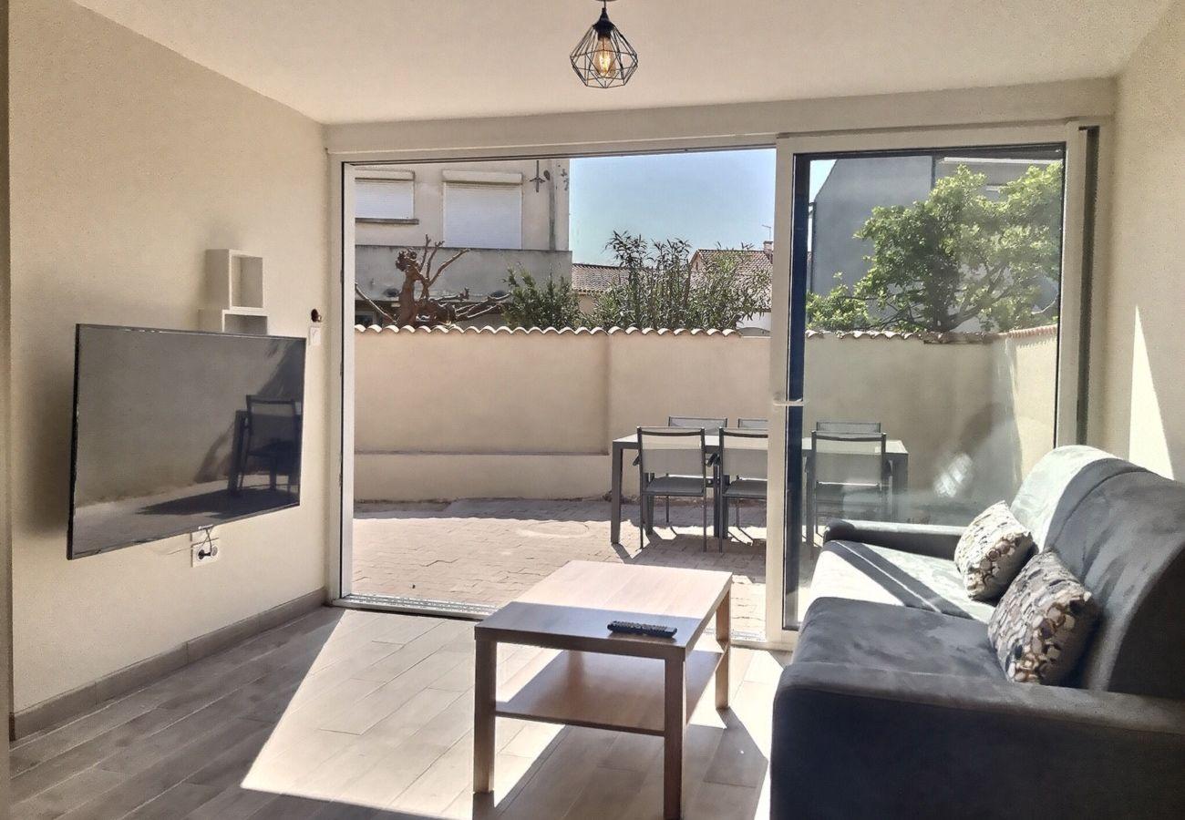 Appartement à Valras-Plage - Dans une petite résidence à 150m de la plage, appartement cosy pour 6 personnes